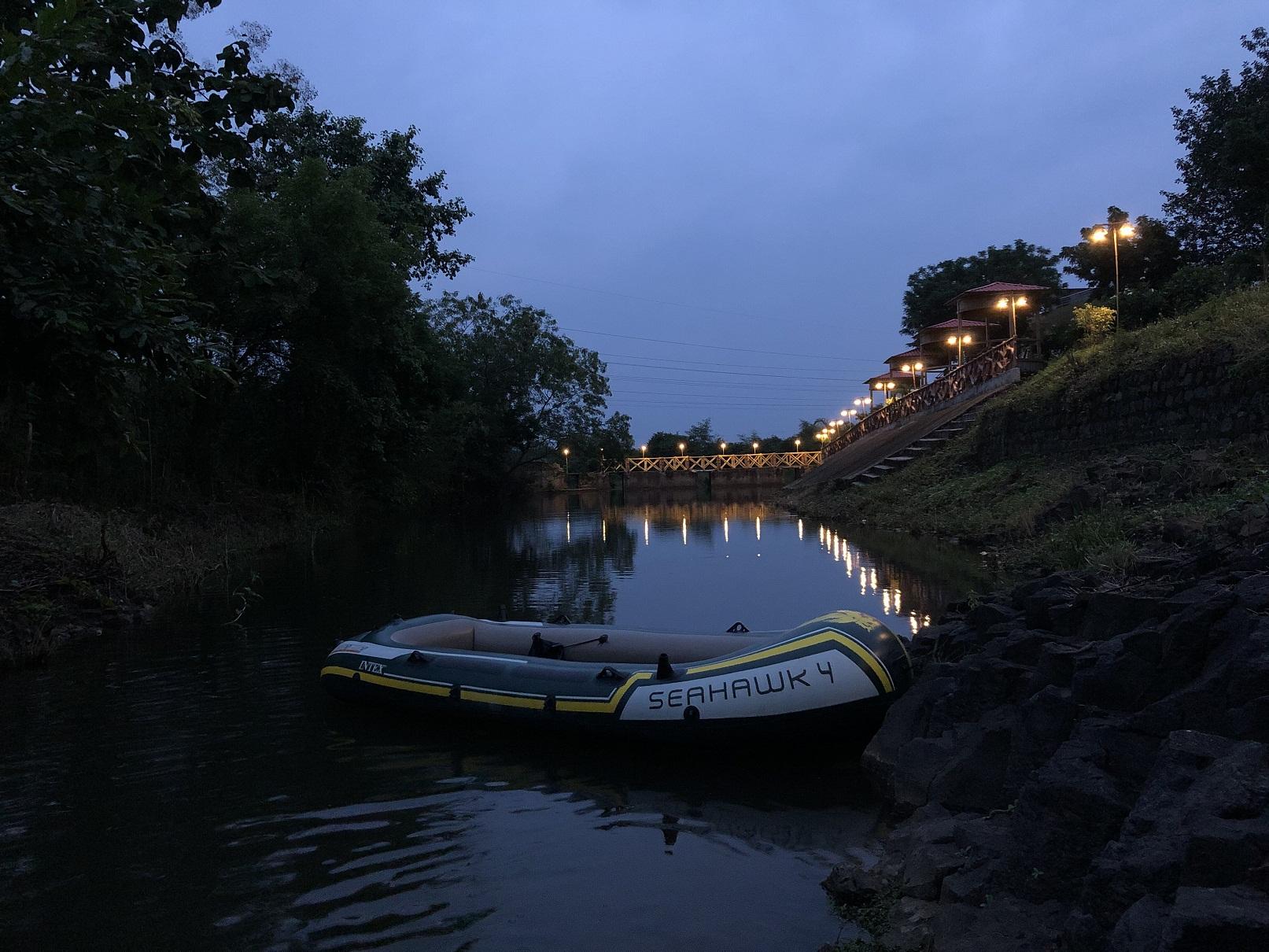 Evening view of the Ashram