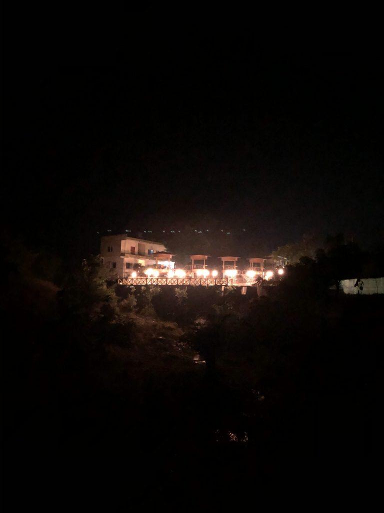 The Evening View of the Ashram